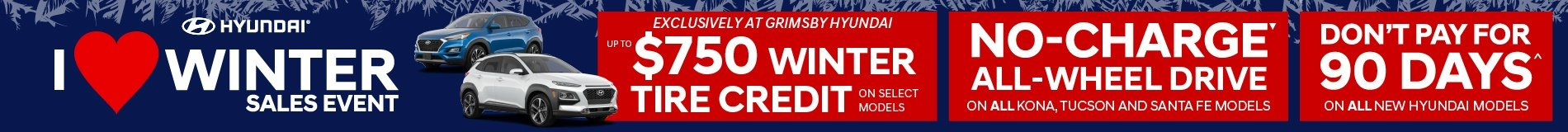 $750 Winter Tire Credit